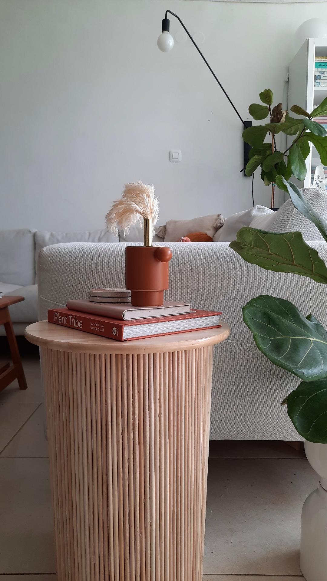 שולחן צד עם ניחוח סקנדינבי | DIY | לימורה אורן עיצוב פנים והום סטיילינג